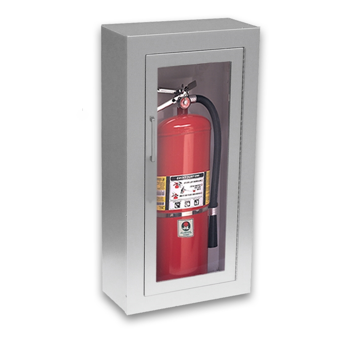 fire extinguisher cabinet jl academy aluminum 2023f10 surface mounted 20 lbs 15431