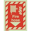 "Jalite Aluminum Photoluminescent ""Fire Hose"" ID Sign JAL-SBA6044D"