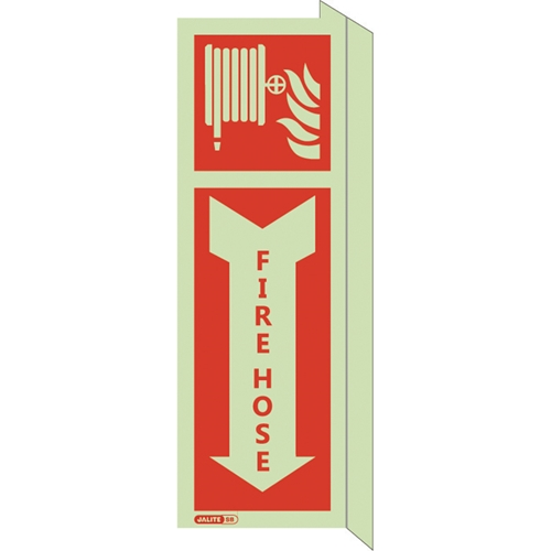 Fire Hose Safety Sign with Arrow