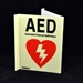 AED Sign in the Dark