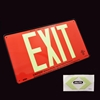 Jalite UL Listed Aluminum Photoluminescent EXIT Sign UL632AS - Red