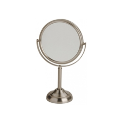10X Matte Nickel Vanity Mirror