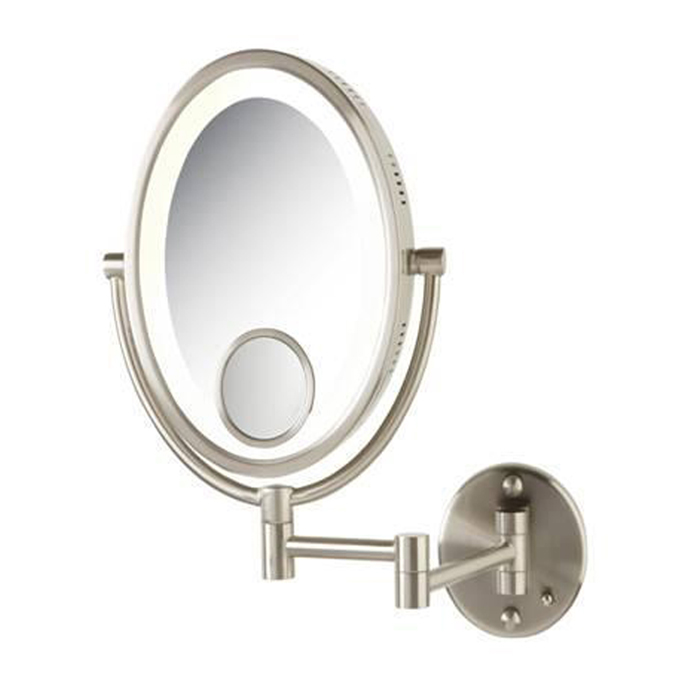 Jerdon Model Hl9515n 10x Oval Lighted Wall Mounted Mirror