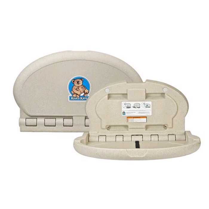 Koala Kare Kb208 Baby Changing Station Oval Wall Mounted