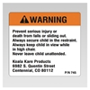Koala Warning Label for Classic High Chair - Model 745