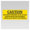 Koala Warning Label for Bistro High Chair - Model 790