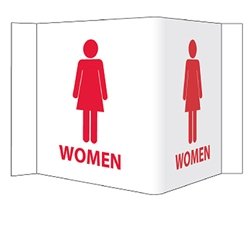 Visi-Signs™ 3D Womens Restroom Sign VS16W