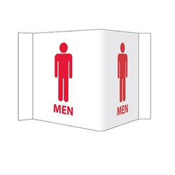 Visi-Signs™ 3D Mens Restroom Sign VS4W
