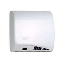 SpeedFlow® M06AF Automatic Hand Dryer - Cast Iron - White Porcelain Enamel