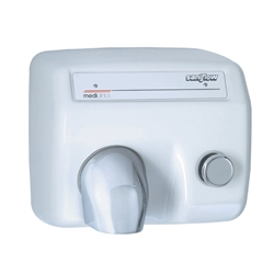 Saniflow® E85 Hand Dryer - Push Button - Cast Iron - White Porcelain