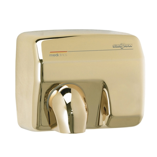 Saniflow® E88AO Hand Dryer - Automatic - Gold Plated Metal