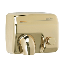 Saniflow® E88O Hand Dryer - Push Button - Golden