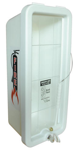 Plastic Fire Extinguisher Cabinet White Pc 105 Ca Pc 105