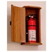 10 lbs. Oak Fire Extinguisher Cabinet w/ Solid Door