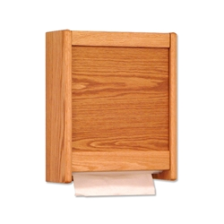 Wooden Mallet Paper Towel Dispensers (natural finish)
