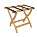 Luggage Rack Light Oak Black Strap