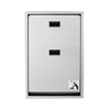 Brocar Full Stainless Steel, Vertical, recessed Baby Changing Station by Foundation - 100SSV-R