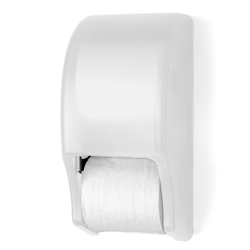 Palmer Fixture RD0028-03 Two Roll Standard Tissue Dispenser White Translucent