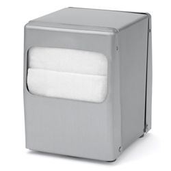 Palmer ND0045-13 Table Top Low-Fold Napkin Dispenser Stainless Steel